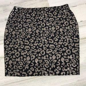 Forever 21 cheetah mini skirt